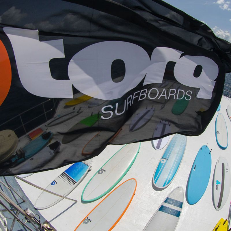 Surfboard TORQ Epoxy TEC Performance Fish 6.10 blu