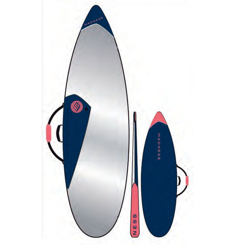 MADNESS Boardbag PE 6.0 Shortboard blauww rood