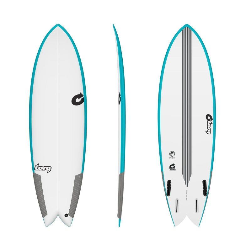 Surfboard TORQ Epoxy TEC Quad Twin Fish 6.0 Rail