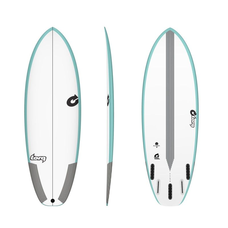 Surfboard TORQ Epoxy TEC Summer 5  5.2 Rail Grün