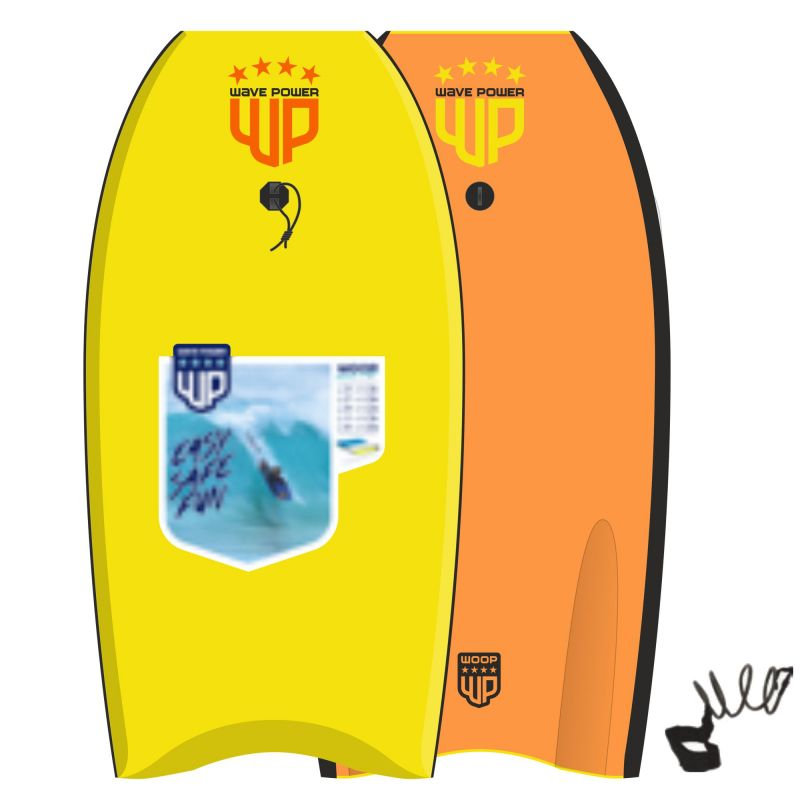 Wave Power Bodyboard Woop 42 geel Orange