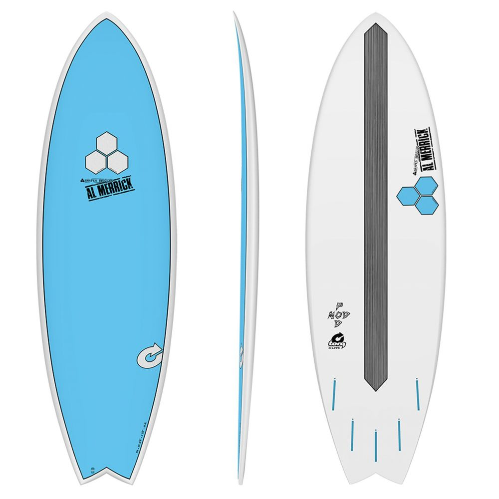 Surfboard CHANNEL ISLANDS X-lite Pod Mod 5.6 blauww