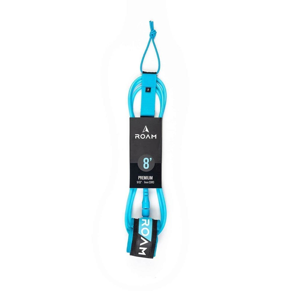 ROAM Surfboard Leash Premium 8.0 244cm 7mm blauww