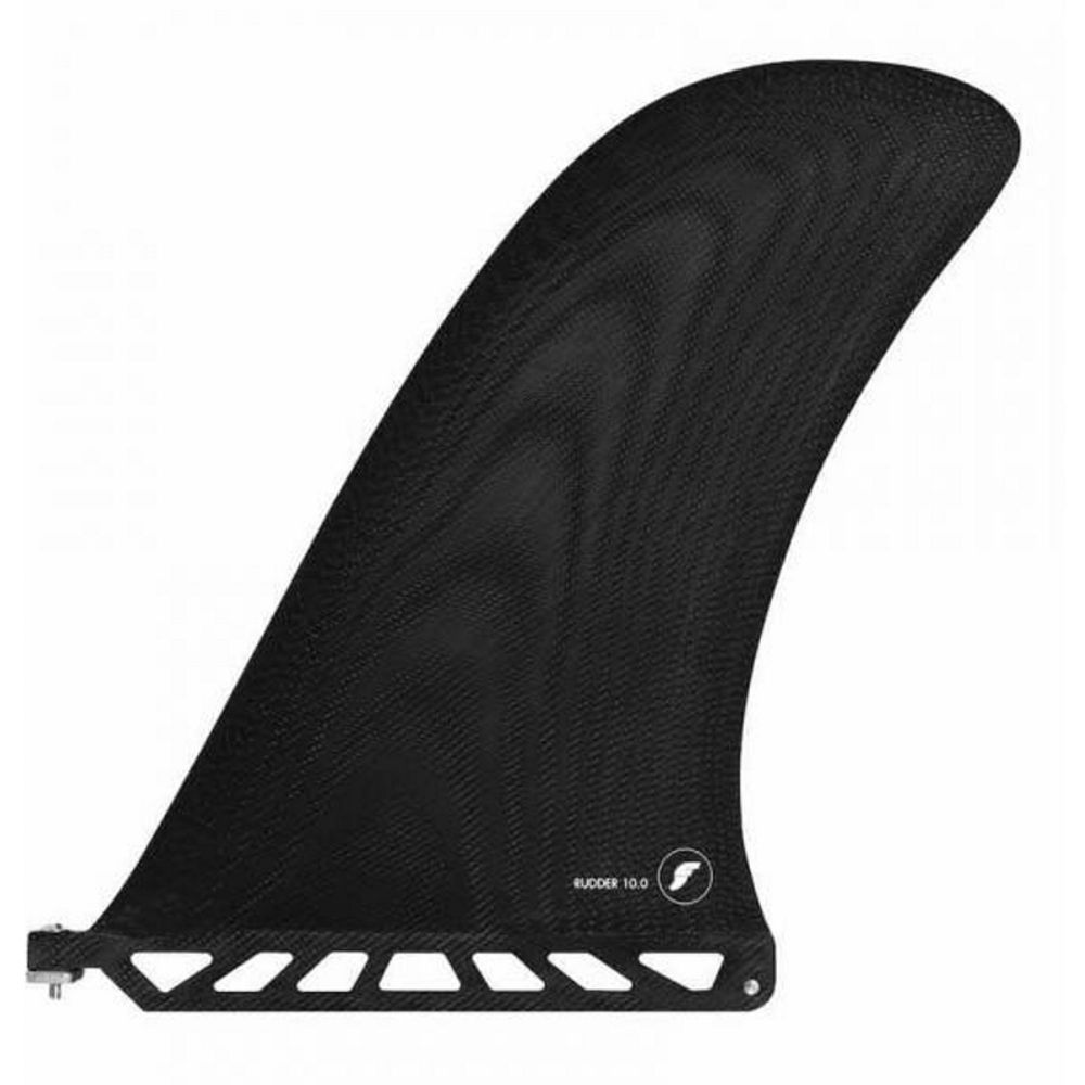 FUTURES Single Fin Rudder 10.0 Fiberglass black US