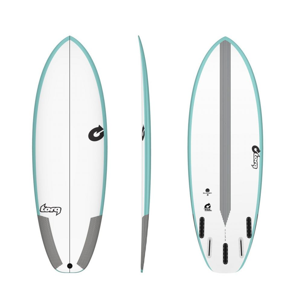 Surfboard TORQ Epoxy TEC Summer 5  5.10 Rail Grün