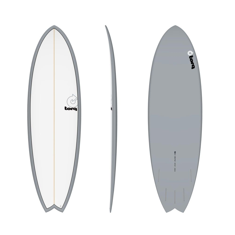 Surfboard TORQ Epoxy TET 5.11 MOD Fish Grey Pinl