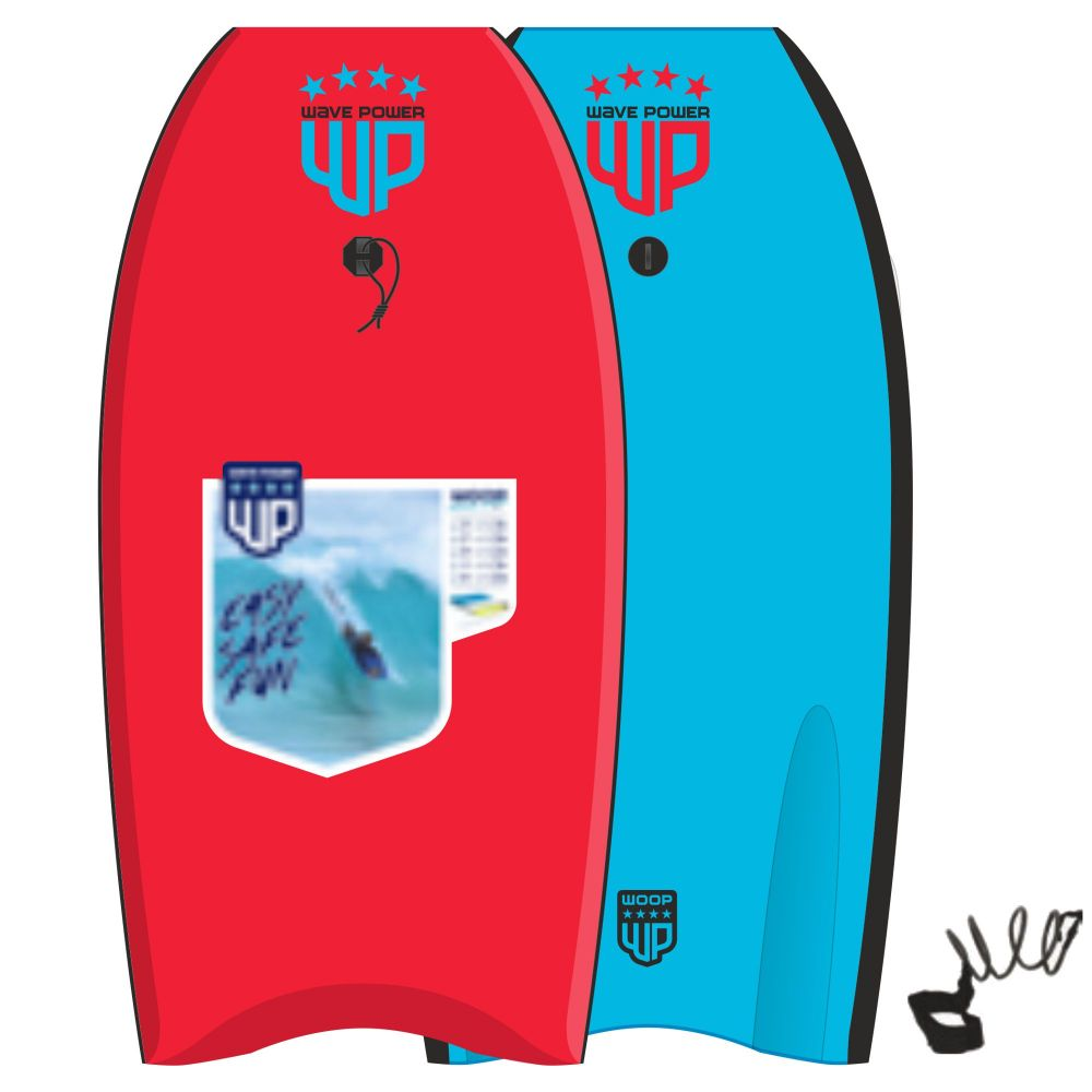 Wave Power Bodyboard Woop 39 rood blauww