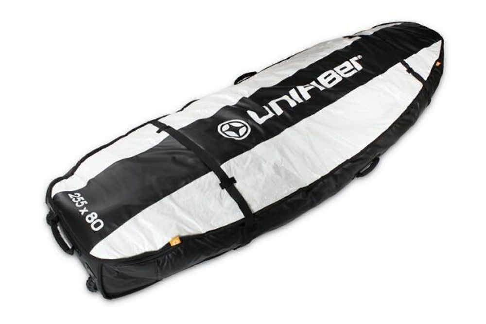 Unifiber Double Pro Boardbag 255 x 80 with XL wheels