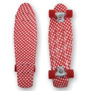 PROHIBITION Retro Plastic Skateboard 22.5 Polka