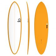 Surfboard TORQ Epoxy TET 6.8 Funboard White Orange